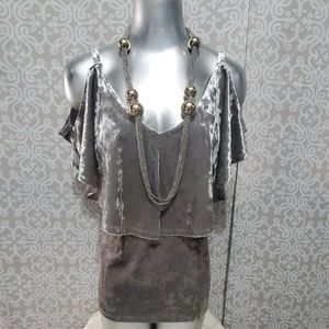 Cable & Gauge Crushed Velvet Blouse